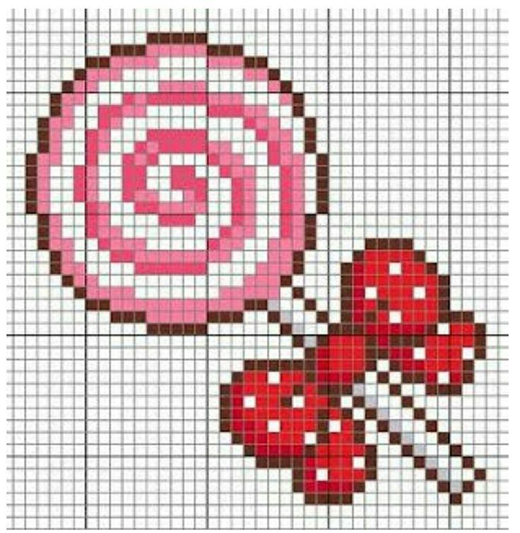 #crossstitch #kanaviçe #pembe #şeker #pink #candy