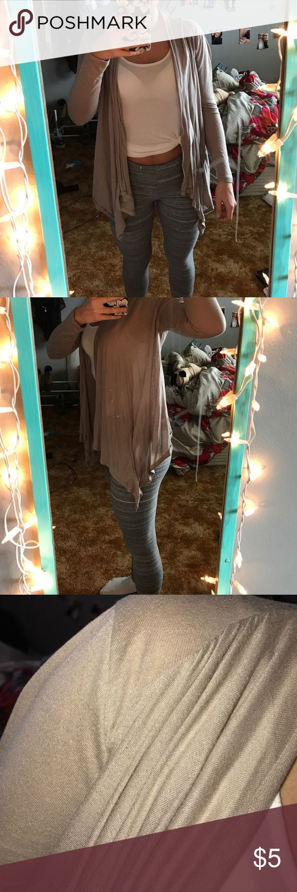 Beige cardigan Beige, open cardigan that's longer in the front Forever 21 Sweaters Cardigans