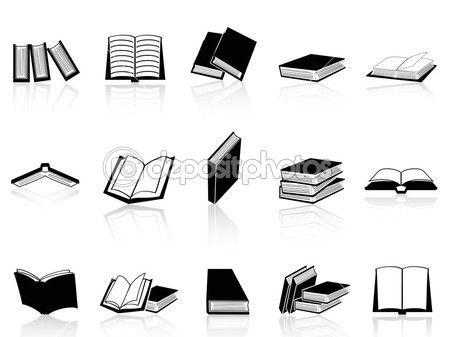 książki zestaw ikon — Ilustracja stockowa #12600923