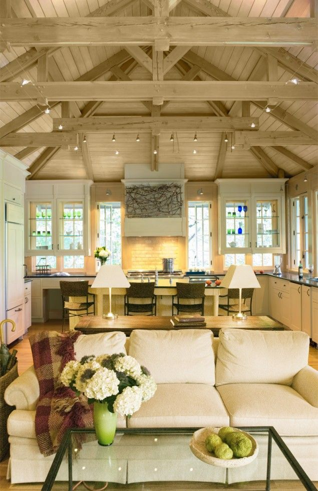 craftsman home plans kitchen home design architectural tree house vacation home exposed beams lofted ceiling great room architect Annapolis MD Donald Lococo