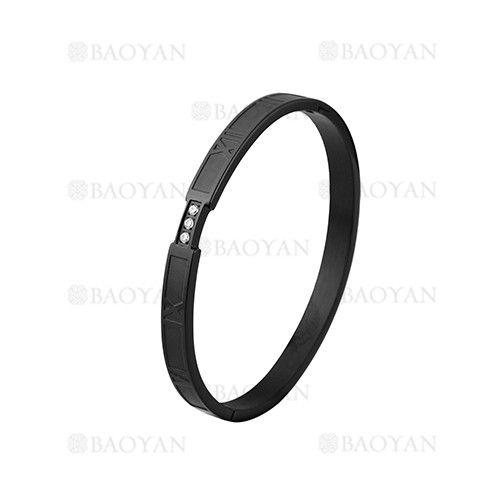 pulsera de moda con numero romano de negro en acero inoxidable-SSBTG1224940