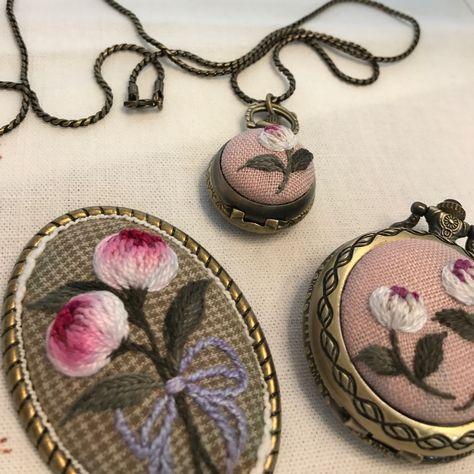 #needlework #프랑스자수 #자수타그램 #자수 #embroidery #embroideryart #embroideryhandmade #hendmade #꽃자수 #자수브로치 만들기~ #핸드메이드