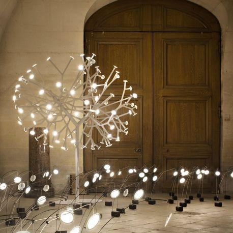 Lampe de Sol BLOSSOMS Arbre Cerisier avec Disques Lumineux OLED