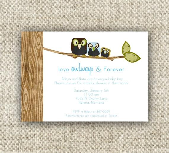 owl boy baby shower invite @Cardtopia Company Designs