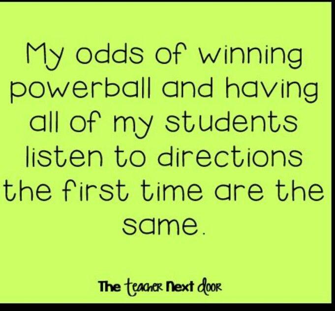 odds of winning Powerball and teaching