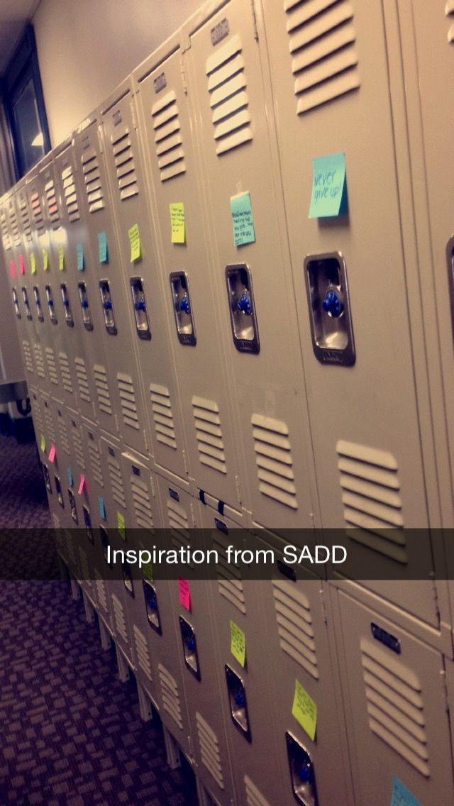 The Sadd Club At My School Put Quotes On Everyone S