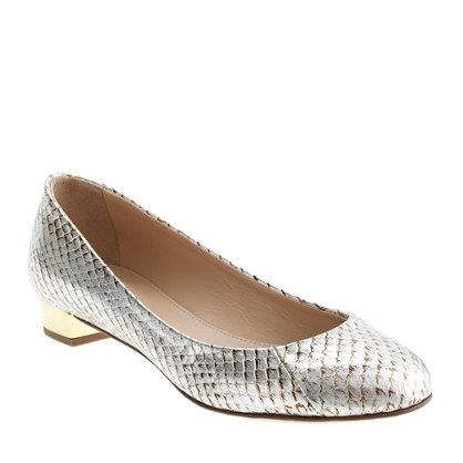 Collection Janey snakeskin flats/