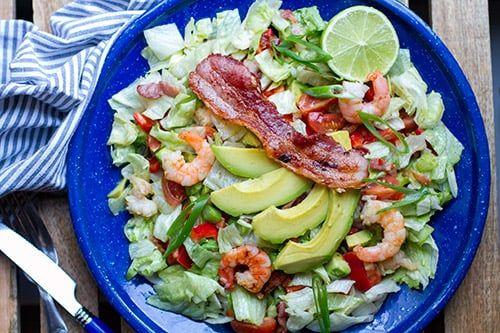 20-Minute Paleo BLT Salad with Prawns & Avocado