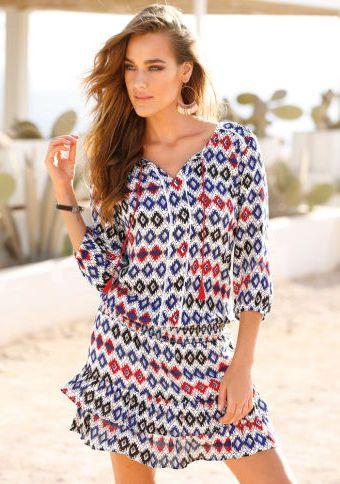 Volánové šaty s etno potiskem #ModinoCZ #forfreetime #comfortable #stylish #fashion #trendy #clothing #obleceni #moda #volnycas #stylove