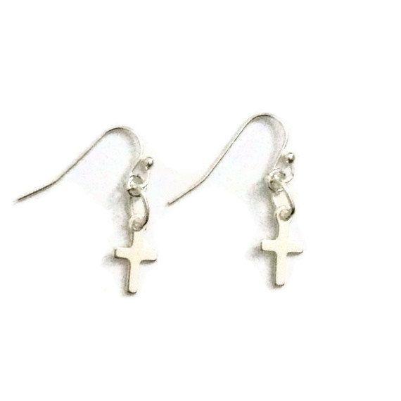 Cross Earrings First Communion Children's by prettylittlepretties, $12.00