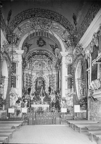 Portalegre, Portugal   Igreja do Senhor do Bonfim - capela-mor. Fotografia sem data. Produzida durante a actividade do Estúdio Mário Novais: 1933-1983.