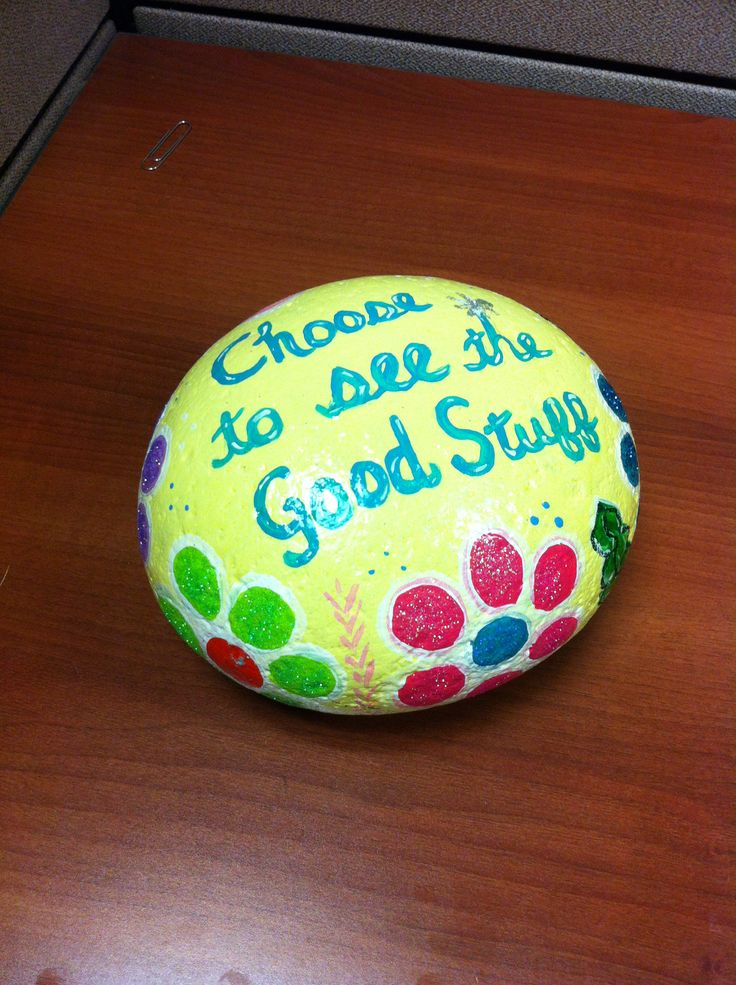Painted rock with uplifting message...by Christy Anderson