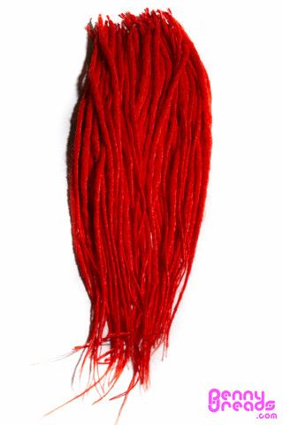 "Red 24"" U-Tip Synthetic Dreadlocks (10 pieces) - 100% Kanekalon. – Penny Dreads & Wigs"