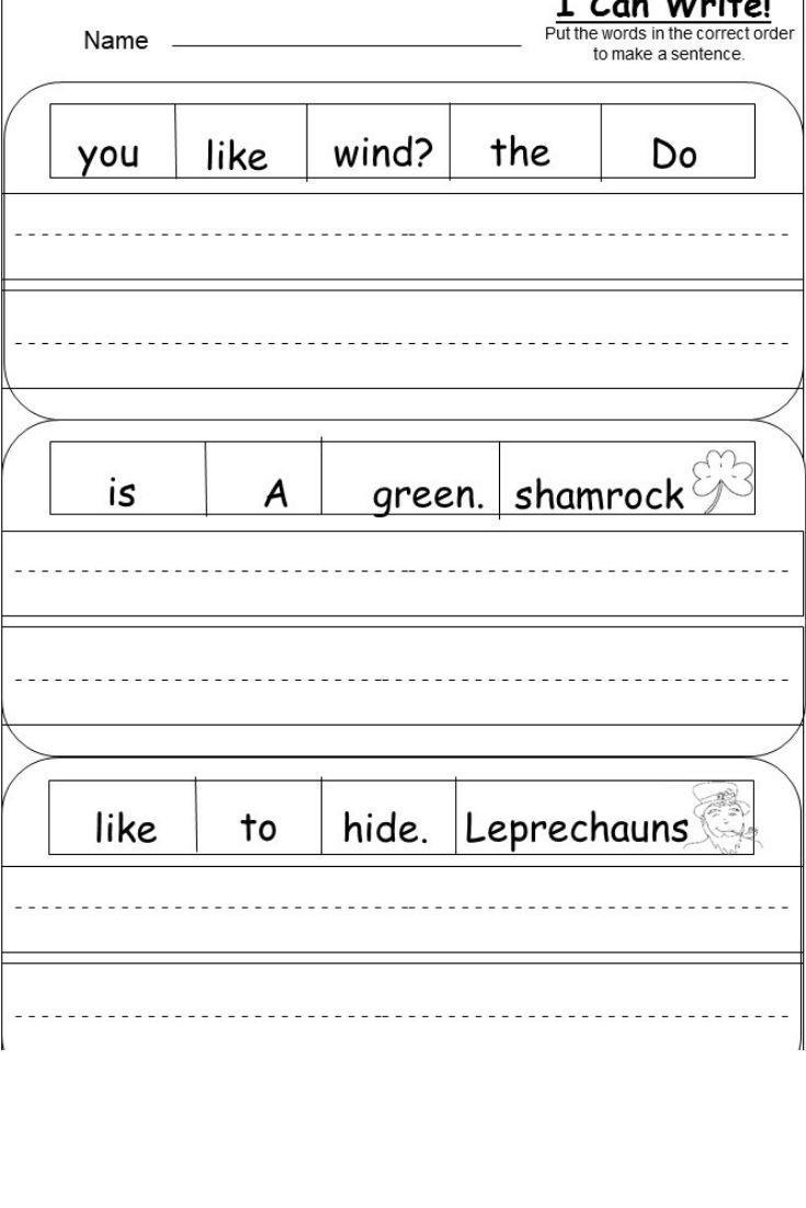 St Patrick S Day Writing Kindermomma Com Kindergarten Writing Activities Opinion Writing Kindergarten Kindergarten Literacy Worksheets [ 1102 x 735 Pixel ]