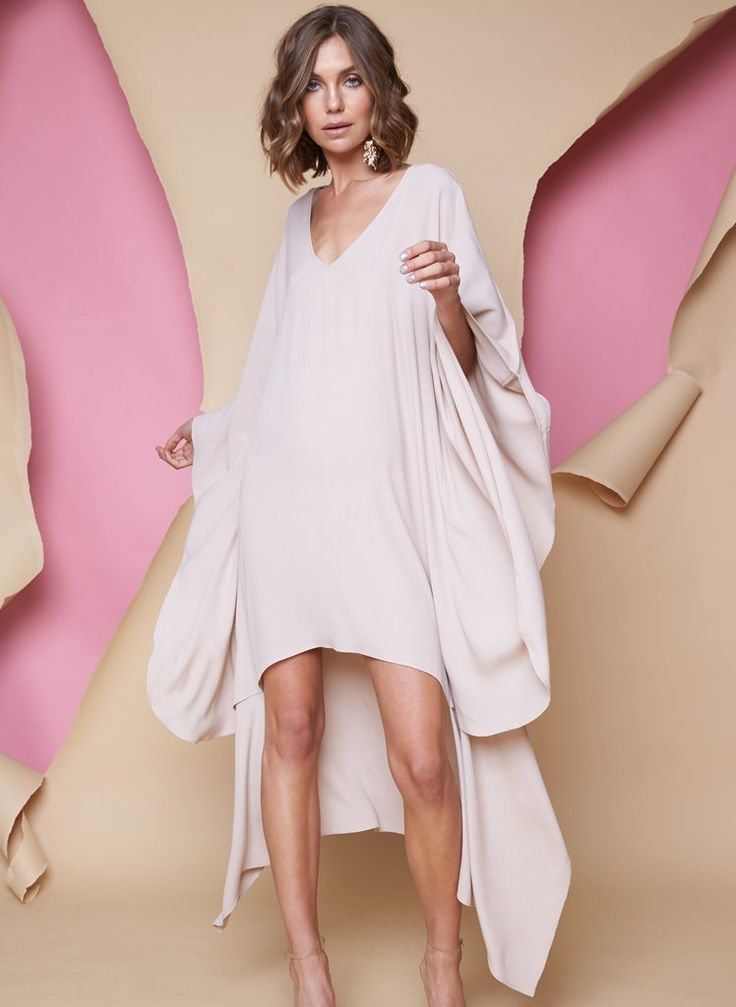 Pink Stitch - Ps The Label Crave You Kaftan - Taupe