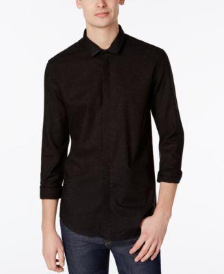 CALVIN KLEIN Calvin Klein Men's Cross Hatch Twill Shirt. #calvinklein #cloth #down shirts