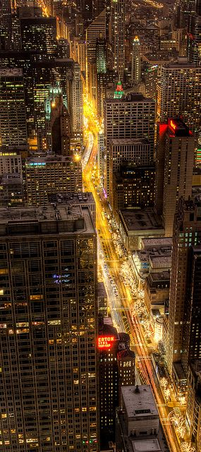 Cruising the Magnificent Mile by Out Of Chicago, via Flickr