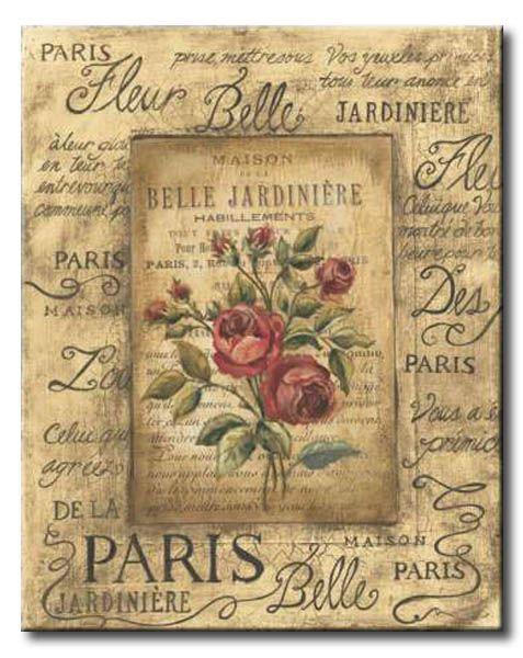 POl_060_Bel Bouquet II / Cuadro Vintage, Flores de Paris