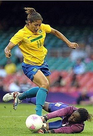 Cristiane: maior goleadora da história das Olimpíadas.