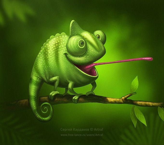 Chameleon. Character © Сергей Кардаков