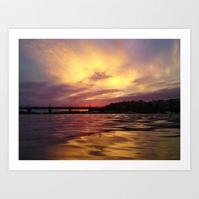 Sunset Reflection Art Print by Sheridan van Aken - $20.80