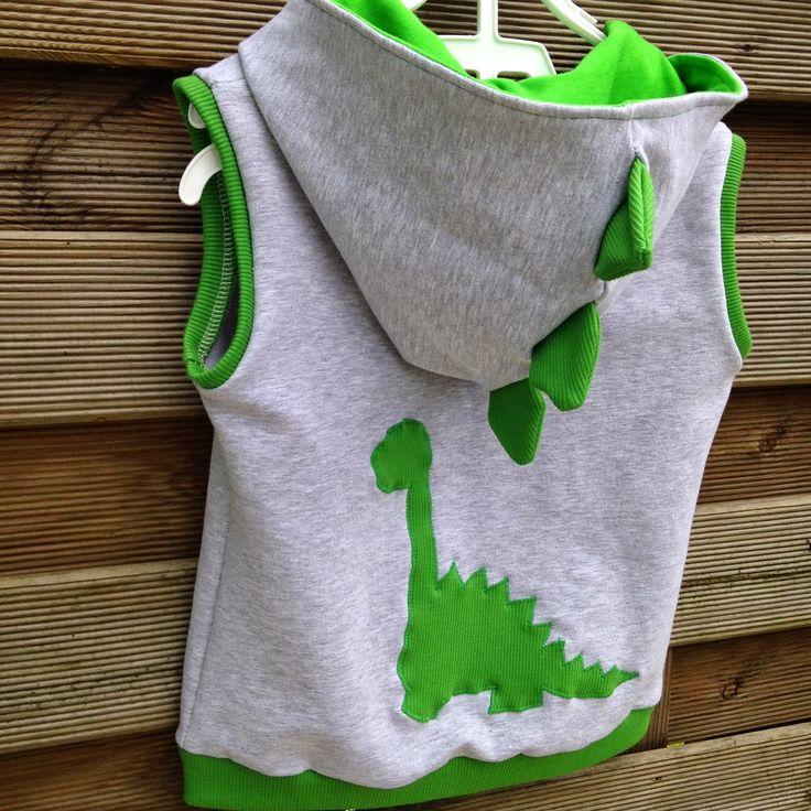 tracksuit children; Vest template dinosaur.