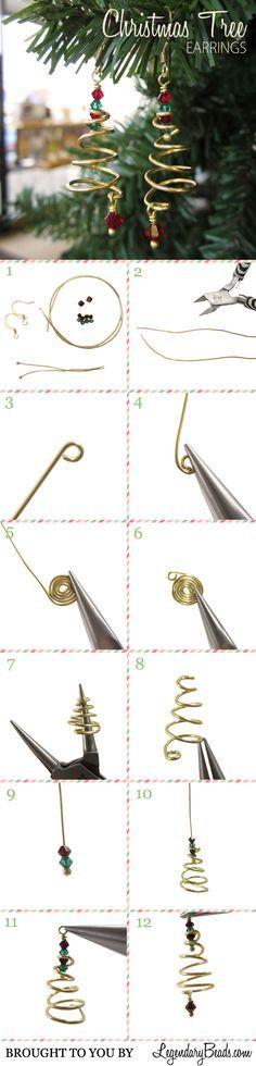Tutorial: Christmas Tree Earrings