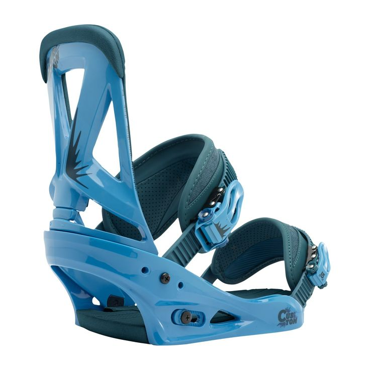Men's Burton Snowboard Bindings - Burton Custom Snowboard Bindings - Blue Denim