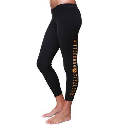 Pittsburgh Steelers Womens Legging Pants - Black