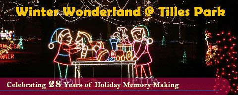 Don't miss Winter Wonderland in Tilles Park. Begins Nov. 27.  Take your car or a carriage ride. Lots of fun for the kids.