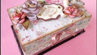 Scatola dei Segreti Shabby Chic - Shabby chic box of secrets, via YouTube.
