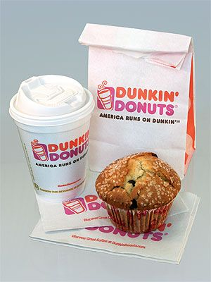Swap Dunkin' Donuts Chocolate Chip Muffin [590 calories, 24 grams of fat] with a Chocolate Souffle [109 calories, 2 grams of fat]