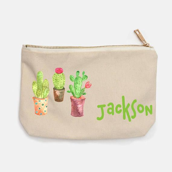 Cactus Personalised Pencil Case for Back To School