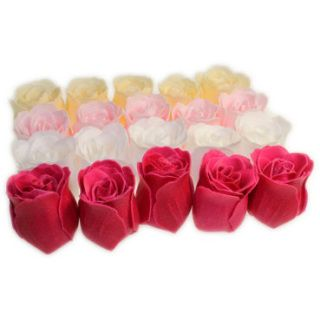 Twenty bath roses in varying colours with rose fragrance.