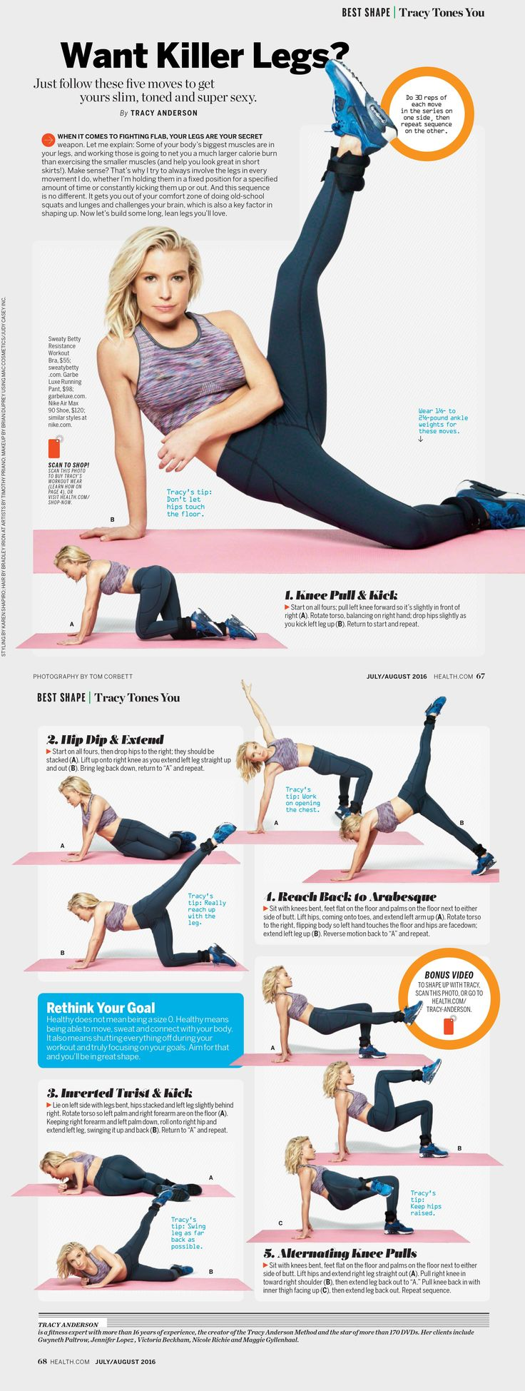 Tracy Anderson - Want Killer Legs? Health.com                                                                                                                                                                                 More