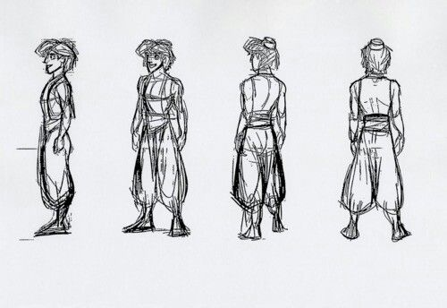 When creating the character of Aladdin, animator Glen Keane was inspired by three real-life people: Tom Cruise for his looks, Michael J. Fox for his personality, & rapper MC Hammer for his clothes.