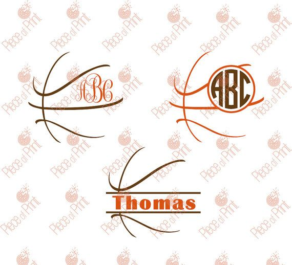 Basketball SVG Cut Files cut files for Silhouette by pieceofprint