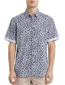 Gasoline Ditsy Printed Shirt product photo