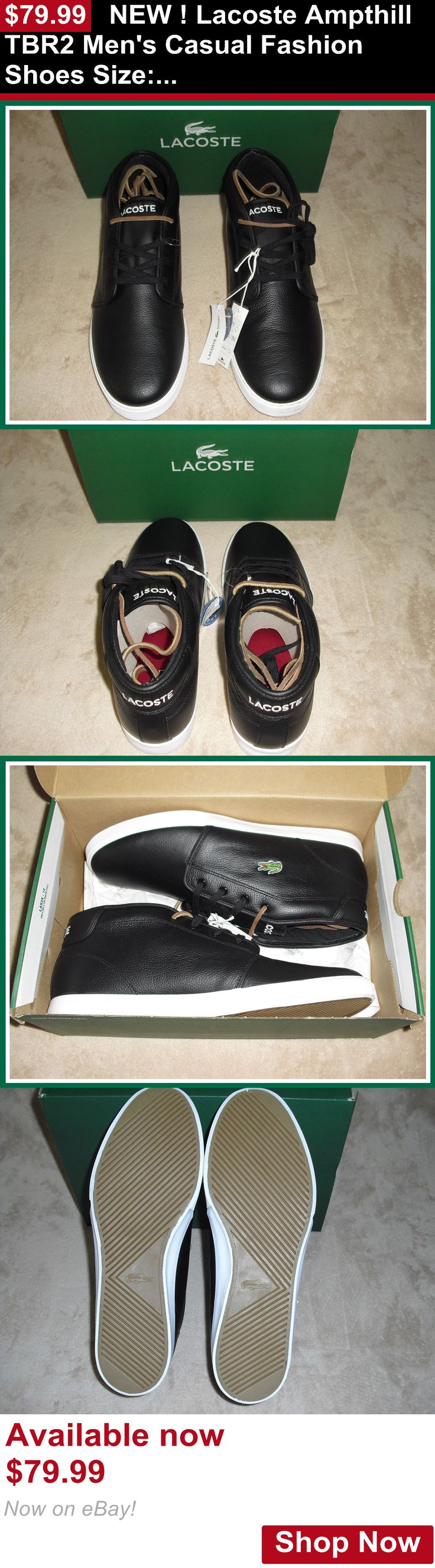 Men shoes: New ! Lacoste Ampthill Tbr2 Mens Casual Fashion Shoes Size:13 BUY IT NOW ONLY: $79.99