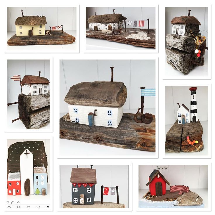 #haylingbeachcomber #handmadewithlove #driftwood #drivved #littlewoodenhouses…