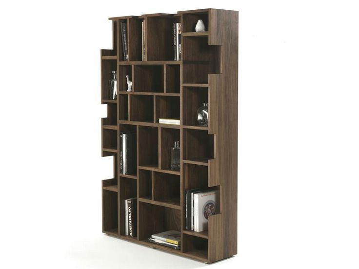 Libreria a giorno in legno massello NEUMA by Riva 1920   design Lia Bosch