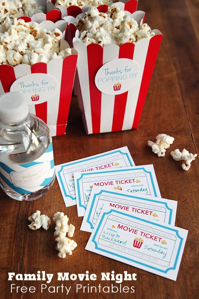 Backyard Movie Night Birthday Party Ideas : 1000+ images about Party Favors on Pinterest  Goody bags, Treat bags