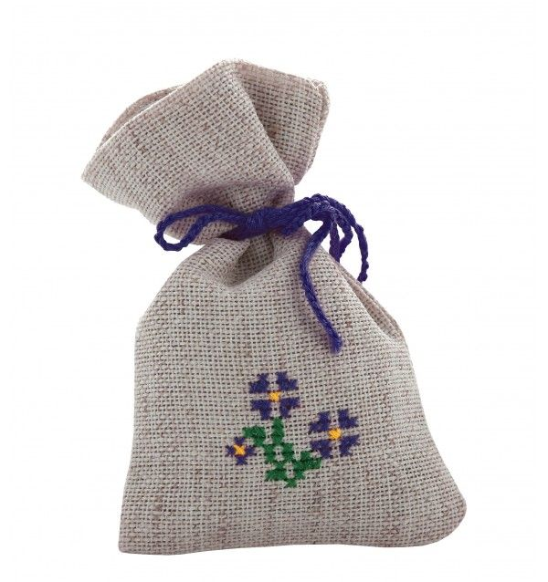 Embroidered Linen Bag for Aromatic Herbs is a traditional item used to deposit aromatic herbs such as lavender, basil, mint.