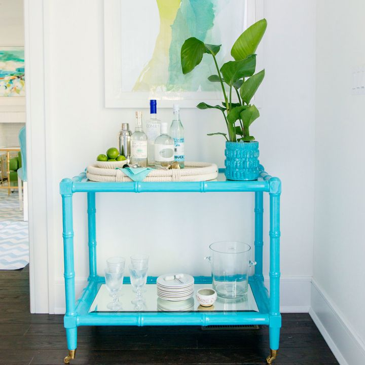turquoise bar car | 2016 Coastal Living Magazine Hamptons Showhouse