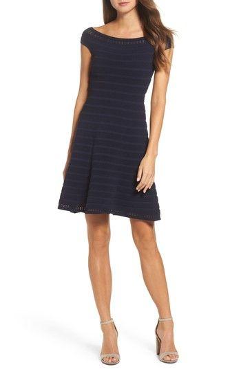 e6551fd56f7 ELIZA J OFF THE SHOULDER FIT   FLARE DRESS.  elizaj  cloth
