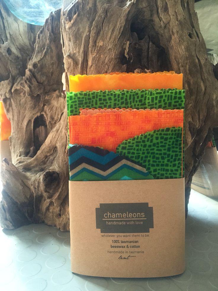 Beeswax wrap - Chameleons!