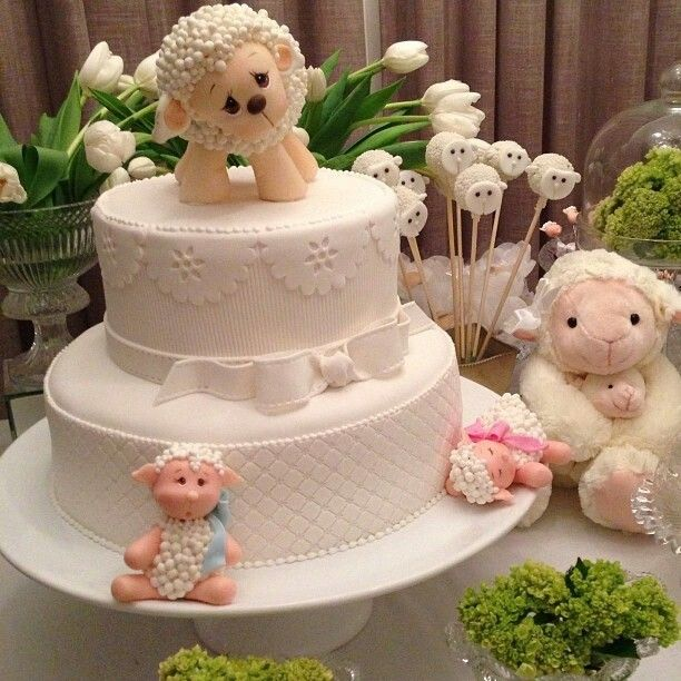 Marshmallow Cake, Easter Lamb And Sheep Cake