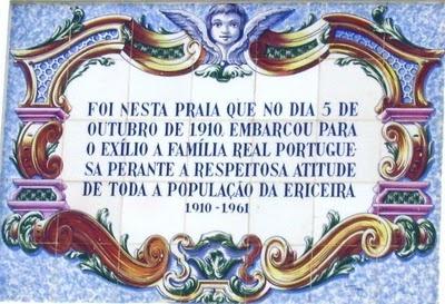 Família Real Portuguesa partiu para o exílio da praia dos Pescadores, na Ericeira