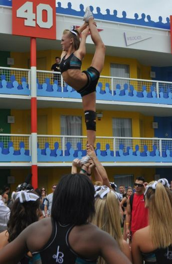 Maddie Gardner at worlds throwback!! #cheer #cheerleader #cheerleading