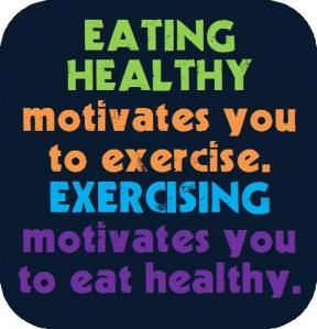Eating healthy and exercising go hand in hand. #FoodPhilosophy